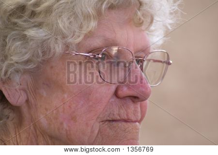 Contemplating Old Woman