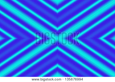 Illustration of a cyan and dark blue x-pattern