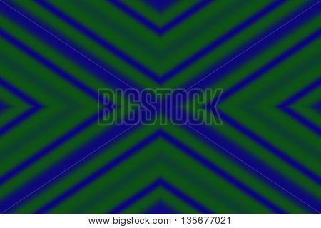 Illustration of dark green and dark blue x-pattern