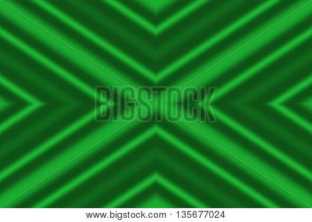 Illustration of dark green and light green x-pattern