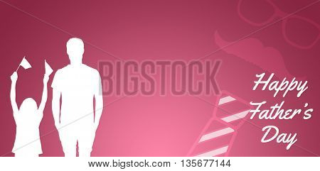 composite image for fathers day in a pink background