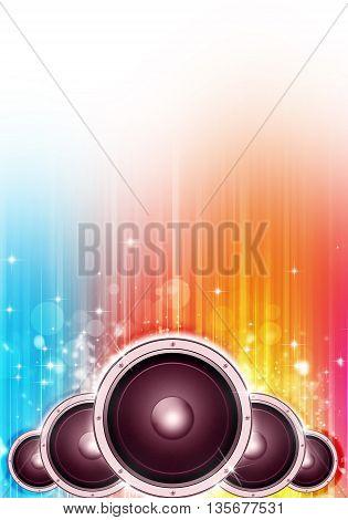 Sound Speakers Music Background