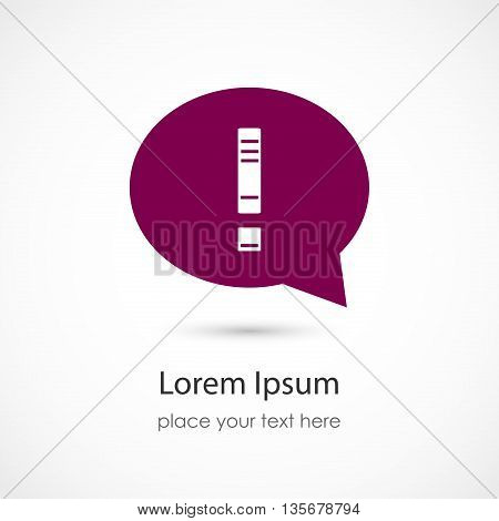 Vector illustration of an Idea Icon on white background