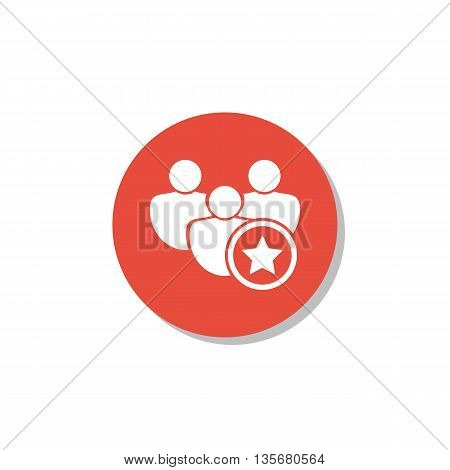User Star Icon In Vector Format. Premium Quality User Star Symbol. Web Graphic User Star Sign On Red