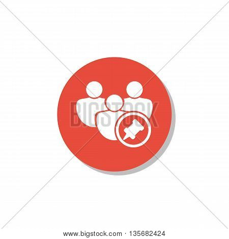User Pin Icon In Vector Format. Premium Quality User Pin Symbol. Web Graphic User Pin Sign On Red Ci