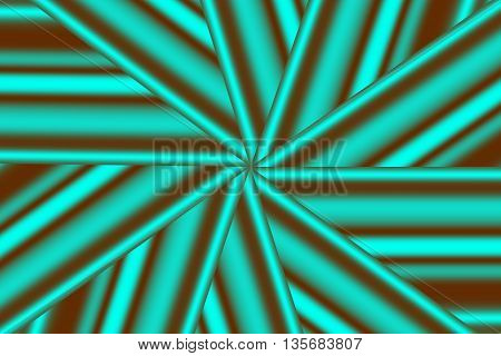 Illustration of a cyan and brown star pattern