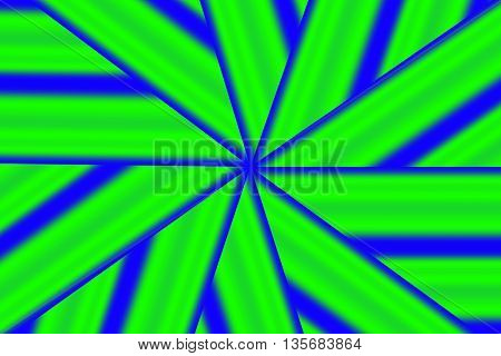 Illustration of a green and blue star pattern
