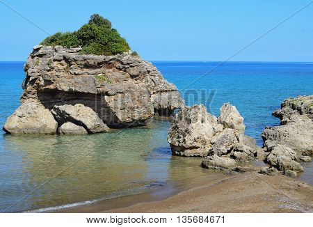 Porto Zorro Seashore in Zakynthos island Greece