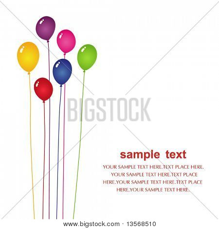 vector balloon card design