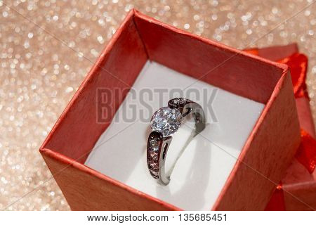 Black Ring And Gift Box
