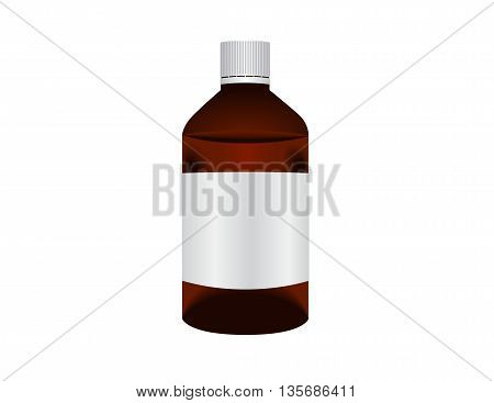 Bottles pack with medical drugs Eps10 vector illustration. Isolated on white background