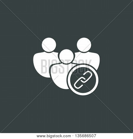 User Link Icon In Vector Format. Premium Quality User Link Symbol. Web Graphic User Link Sign On Dar