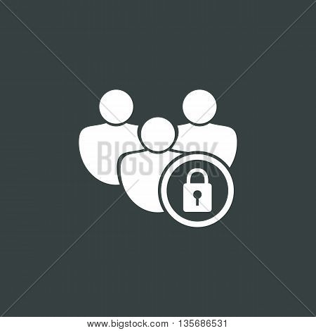 User Lock Icon In Vector Format. Premium Quality User Lock Symbol. Web Graphic User Lock Sign On Dar