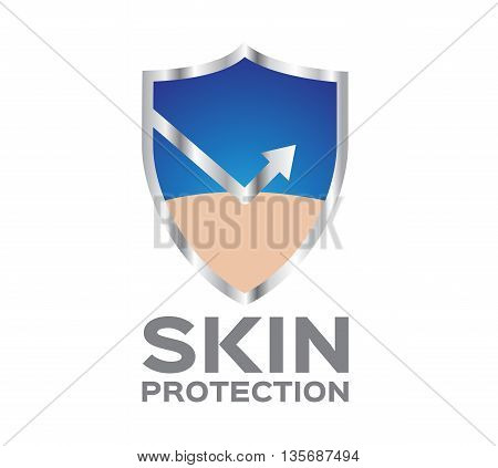 skin vector graphic icon and logo . reflect shield skin