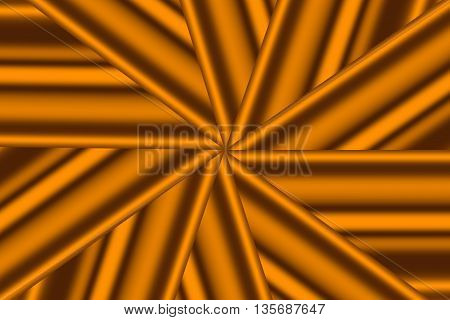 Illustration of an orange and brown star pattern