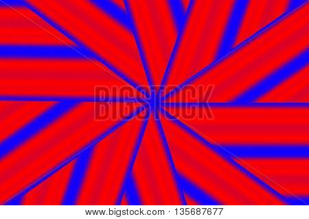 Illustration of a red and dark blue star pattern