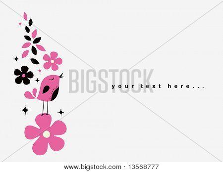 sweet bird card design