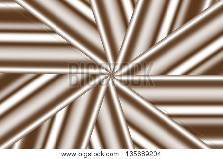 Illustration of a brown and white star pattern