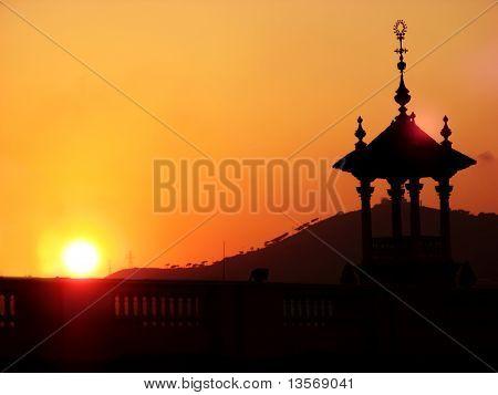 Sunset in Barcelona