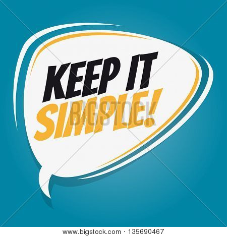 keep it simple retro speech bubble