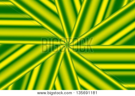 Illustration of a yellow and green star pattern