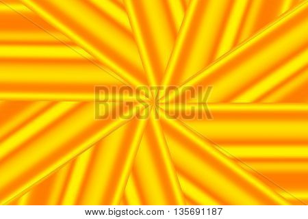 Illustration of a yellow and orange star pattern