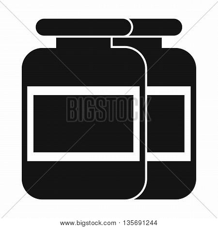 Nutritional supplement for athletes icon in simple style isolated on white background