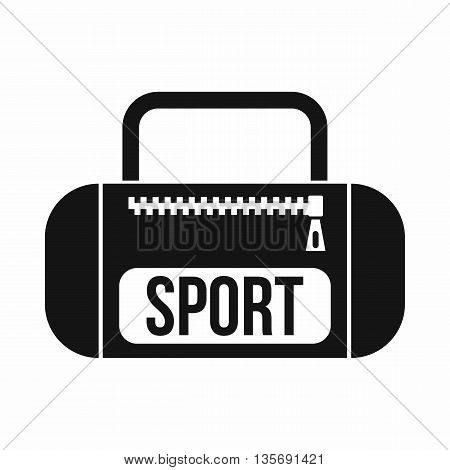 Sports bag icon in simple style isolated on white background