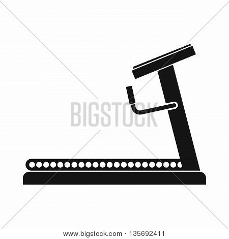 Treadmill icon in simple style isolated on white background