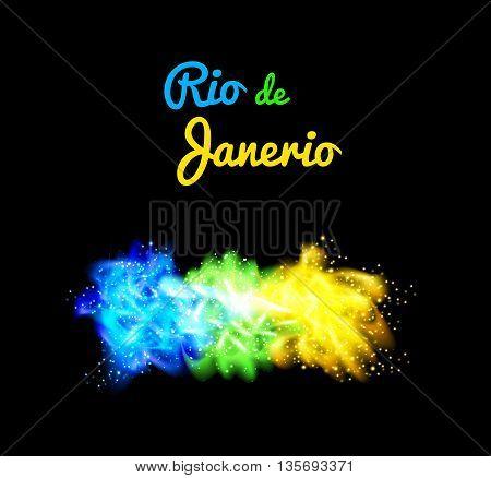 Brazil abstract background of Brazil flag easy all editable