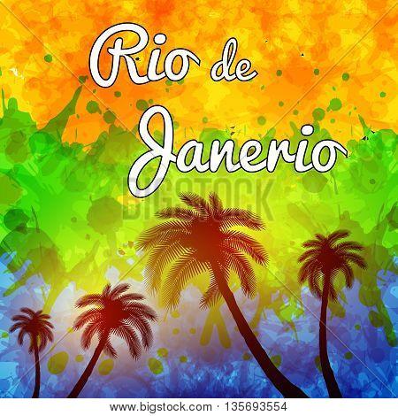 Rio de Janeiro travel background easy all editable