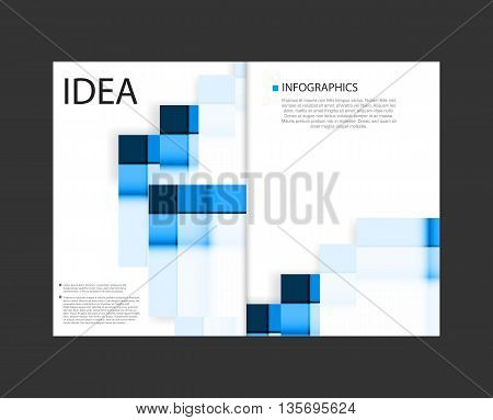 Business layout paper concept easy all editable