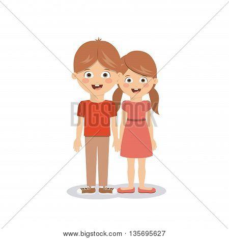 pair of children design, vector illustration eps10 graphic