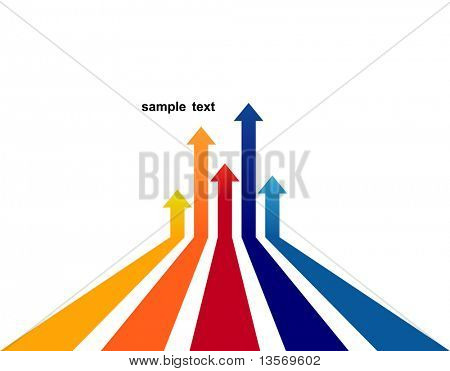 farbigen Pfeilen Vektor