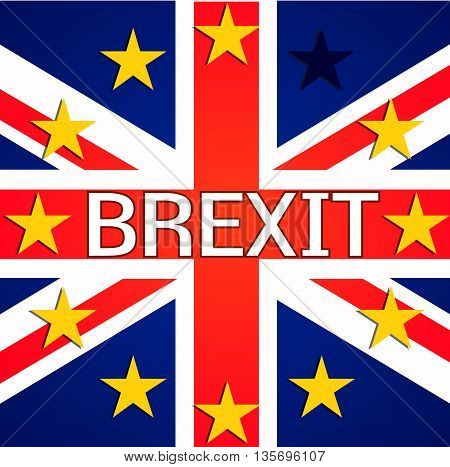 Brexit Great Britain EU exit europe relative image. Brexit named politic process.