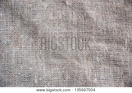 Fabric texture background of seamless linen sacking cloth hessian sackcloth