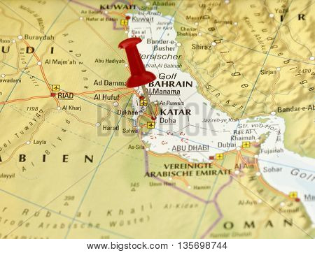 Map with pin set on Kata, Saudi Arabia.