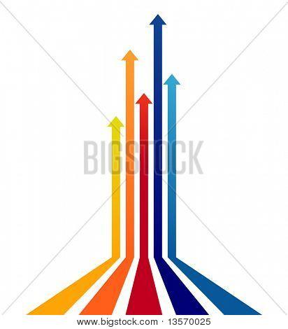 Vetor de setas coloridas