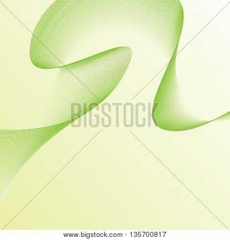 Fractal image of an abstract wavy green futuristic shape for a background.