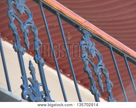 Balcony Railing Of An Old Building 01