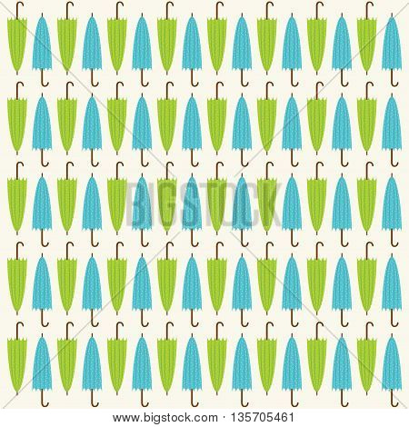 colorful close umbrella pattern background design vector
