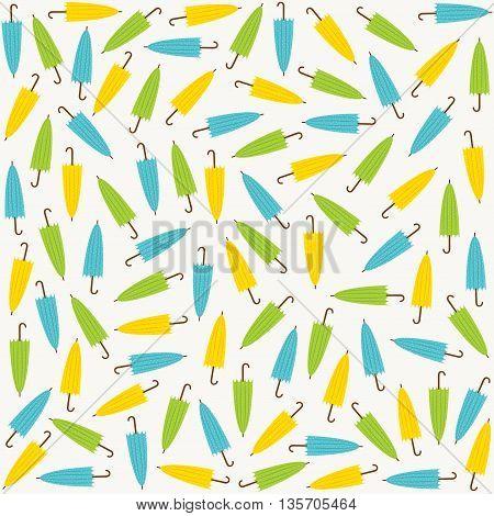 random colorful umbrella pattern background design vector