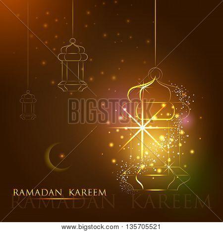 vector illustration of lamp for Ramadan Kareem Happy Ramadan background
