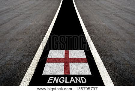 Concept Design For England By Color Painting To Be A Way Of Future