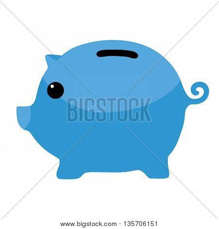 Blue Piggybank Savings Financial Symbol Clipart Vector