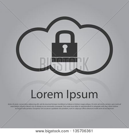 Vector Icon Of Cloud Security Concept
