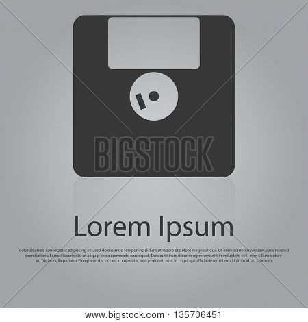 Vector Icon Of Floppy Disk