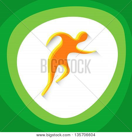 Athletics Runner Athlete Sport Game Logo Competition Icon Vector Illustration