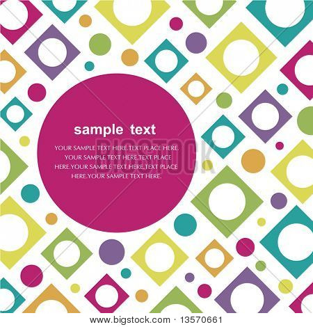 circle and square pattern  Vector illustration