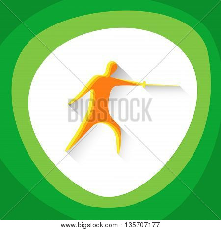 Fencing Sport Game Logo Fencer Icon Vector Illustration
